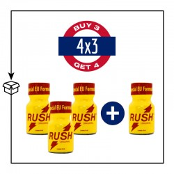PACK 4 POPPERS RUSH SPECIAL EU FORMULA 10ML