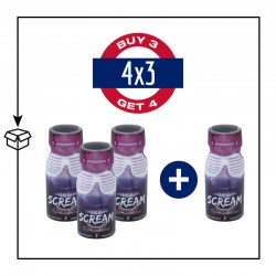 PACK 4 POPPERS SCREAM 13ML