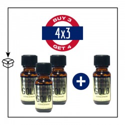 PACK 4 POPPERS ORIGINAL AMSTERDAM GOLD 25ML