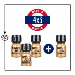 PACK 4 POPPERS JUNGLE JUICE GOLD LABEL 10ML