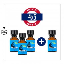 PACK 4 POPPERS KRAKEN 24ML