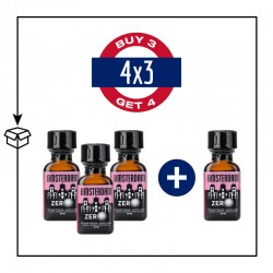 PACK 4 POPPERS AMSTERDAM ZERO 24ML