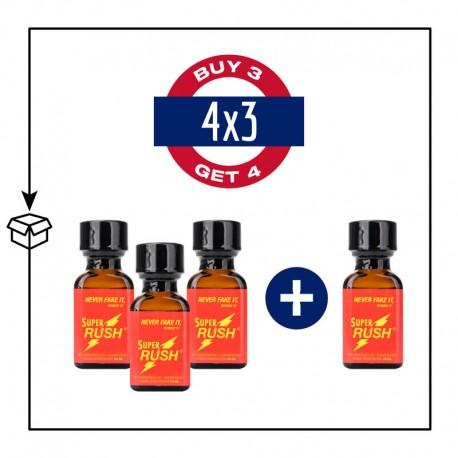 PACK 4 POPPERS SUPER RUSH 24ML