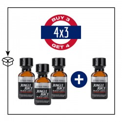 PACK 4 POPPERS JUNGLE JUICE BLACK LABEL 24ML