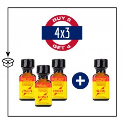 PACK 4 POPPERS RUSH ORIGINAL PWD 24ML