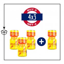 pack 4 poppers rush original 9ml pwd