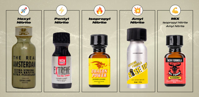 Types of Poppers
